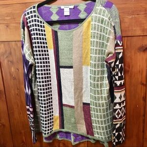 Desigual Shimmering Color Block Sweater